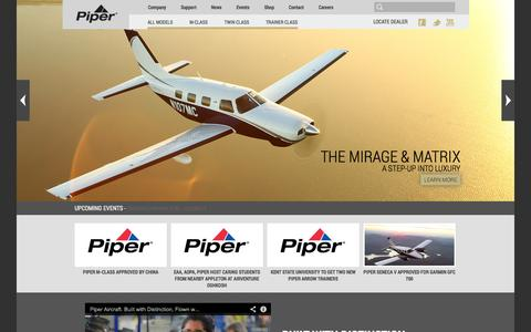 Screenshot of Home Page piper.com - Home - Piper - captured Oct. 2, 2014