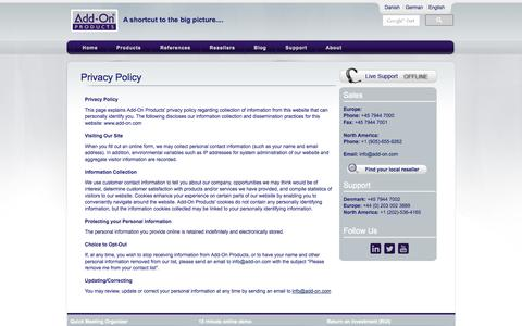 Screenshot of Privacy Page add-on.com - Privacy Policy | Company (EN) - captured Oct. 4, 2014