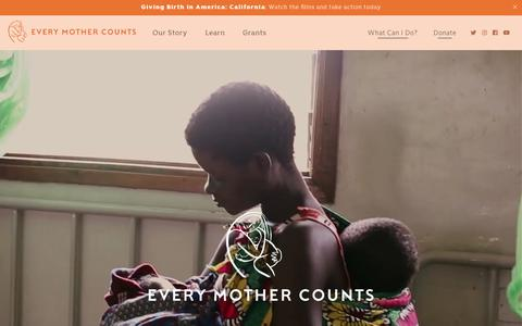 Screenshot of Home Page everymothercounts.org captured Nov. 5, 2018