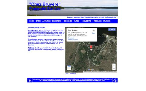 Screenshot of Maps & Directions Page chezbruyere.com - Mont Tremblant  log cabin for rent - captured Dec. 8, 2015