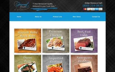 Screenshot of Products Page gourmetsouth.com - Only The Highest Quality Food Products Delivered To Your Door! - captured Nov. 12, 2016