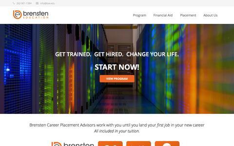 Screenshot of Home Page bse.edu - Brensten Education   Technology Bootcamp Training - captured Sept. 13, 2015