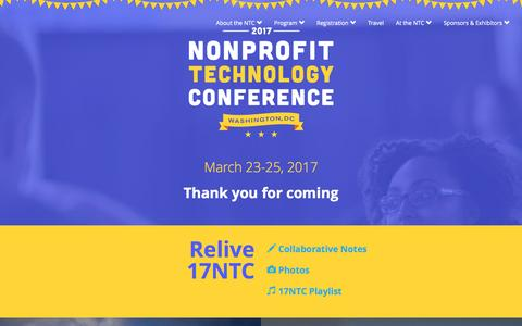 2017 Nonprofit Technology Conference – NTEN