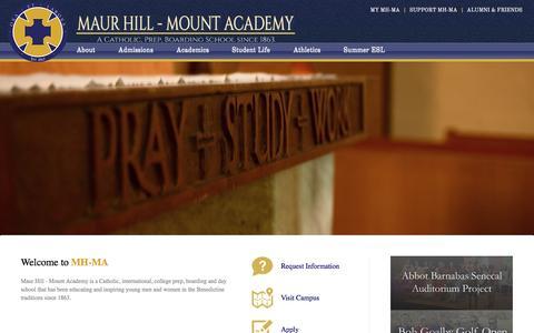 Screenshot of Home Page mh-ma.com - Welcome to MH-MA - captured Feb. 12, 2016