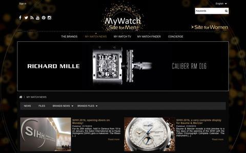 Screenshot of Blog my-watchsite.com - NEWS - MYWATCHSITE - captured Jan. 17, 2016