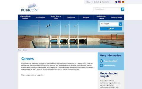 Screenshot of Jobs Page rubiconwater.com - Careers | Rubicon Water | Rubicon Water - captured Sept. 30, 2014