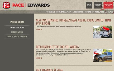 Screenshot of Press Page pace-edwards.com - Pace Edwards Retractable Bed Cover Press Room - captured Dec. 7, 2018