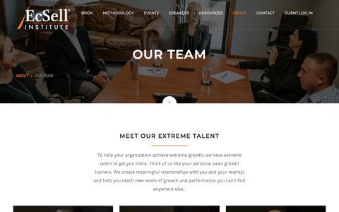 Screenshot of Team Page ecsellinstitute.com - EcSell Team - captured July 15, 2018