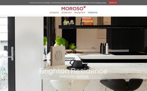 Screenshot of Home Page moroso.it - The beauty of design				 :			Moroso - captured Oct. 29, 2015