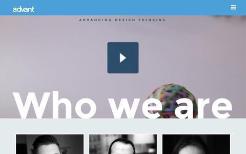 Screenshot of Team Page advantinteractive.com - Team - Advant Interactive - captured April 12, 2016