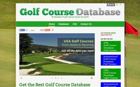 Screenshot of Home Page golf-course-database.com - Golf Course Database for sale | USA & International Golf Courses - captured Sept. 13, 2015