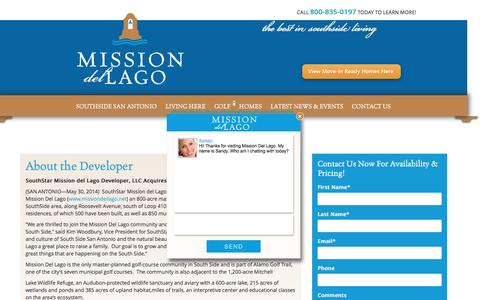 Screenshot of Developers Page missiondellago.net - Sandy says... - captured March 12, 2016