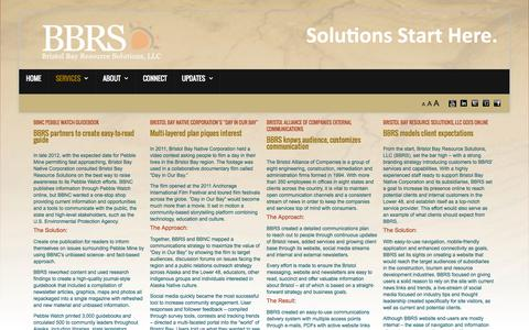 Screenshot of Case Studies Page bbrs-llc.com - Case Studies - captured Oct. 5, 2014