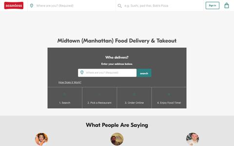 Midtown Delivery - 3,083 NYC Restaurant Menus | Seamless