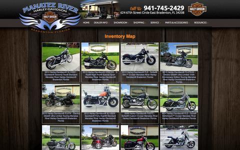 Screenshot of Site Map Page manateeriverharleydavidson.com - Inventorymap | Manatee River Harley-Davidson® | Bradenton Florida - captured Sept. 30, 2014