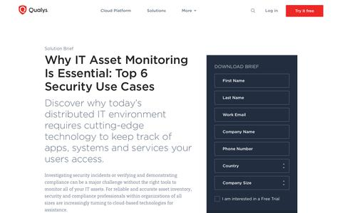 Top 6 Security Use Cases for Automated Asset Inventory | Qualys, Inc.