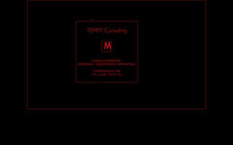 Screenshot of Home Page temiti.fr - TEMITI Consulting - captured Oct. 8, 2014