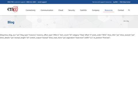 Screenshot of Blog ena.com - Blog - Education Networks of America - captured Nov. 13, 2019