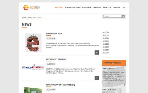 Screenshot of Press Page edality.by - Edality - captured Oct. 22, 2014