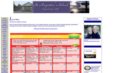 Screenshot of Menu Page staugustineschool.org - Lunchtime! - captured April 5, 2017