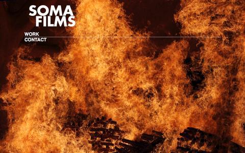 Screenshot of Home Page somafilms.tv - Soma Films - captured Jan. 11, 2016