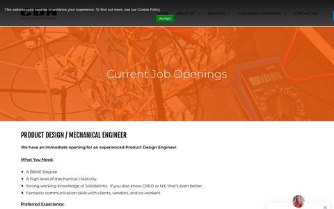 Screenshot of Jobs Page cdn-inc.com - Jobs - CDN - captured Nov. 11, 2018