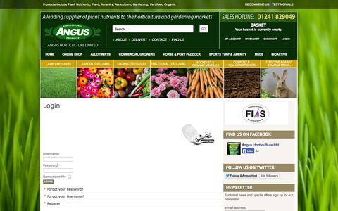 Screenshot of Login Page angus-horticulture.co.uk - Login - captured Oct. 4, 2014