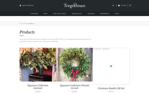 Screenshot of Products Page tregothnan.co.uk - Products | Tregothnan - captured Nov. 7, 2017