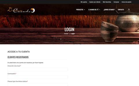 Screenshot of Login Page mayoristadete.com - Acceso cliente - captured Oct. 9, 2018