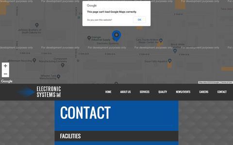 Screenshot of Contact Page electronicsi.com - Contact - - captured Sept. 27, 2018
