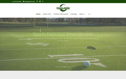 Screenshot of Home Page griturf.com - Grass Roots Turf Products | Service, Technical Support, Quality Products - captured Feb. 1, 2016