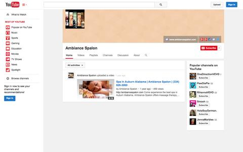 Screenshot of YouTube Page youtube.com - Ambiance Spalon  - YouTube - captured Oct. 23, 2014