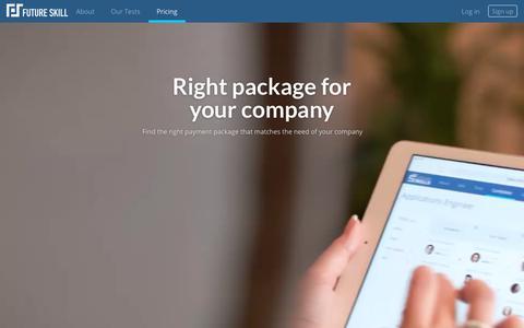 Screenshot of Pricing Page futureskill.com - Future Skill - captured Oct. 11, 2018