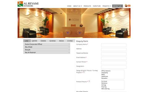 Screenshot of Contact Page Locations Page reyami-interiors.com - Locations | Al Reyami Interiors L.L.C - captured Oct. 23, 2014
