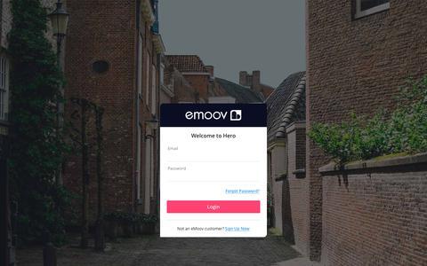 Screenshot of Login Page emoov.co.uk - Login - emoov.co.uk - captured Sept. 19, 2017