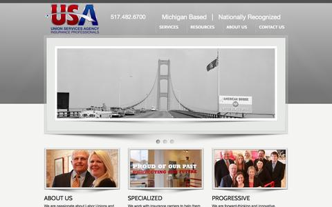 Screenshot of Home Page unionservicesagency.com - Union Services Agency - captured Sept. 30, 2014
