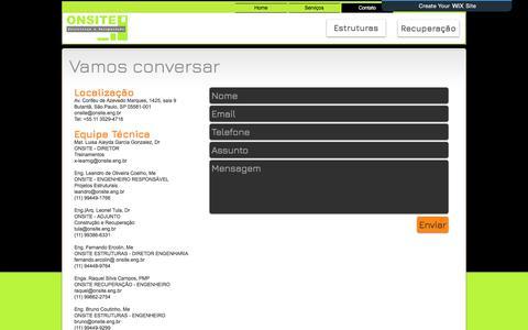 Screenshot of Contact Page onsite.eng.br - ONSITE Estruturas e Recuperação | Contato - captured Oct. 26, 2017