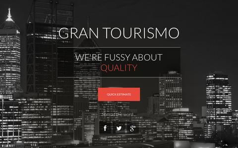 Screenshot of Home Page grantourismo.com.au - GranTourismo Perth Chauffeured Range Rover and Luxury European Marques - captured Nov. 13, 2016
