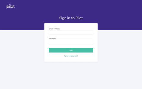 Screenshot of Login Page pilot.com - Pilot - captured June 22, 2019