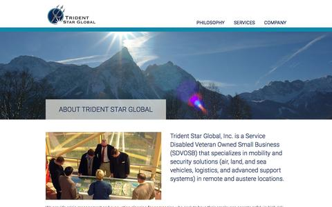 Screenshot of About Page tridentstarglobal.com - About Trident Star Global - Trident Star Global - captured Feb. 25, 2016