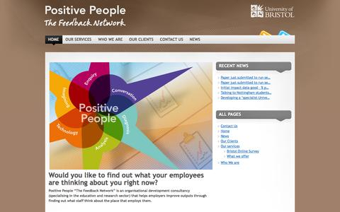 Screenshot of Home Page positive-people.co.uk - Positive People Bristol - captured Oct. 8, 2014