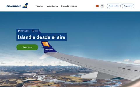 Screenshot of Blog icelandair.com - Noticias y anuncios. | Icelandair - captured Oct. 22, 2018