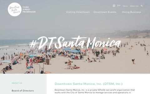 Screenshot of About Page downtownsm.com - Downtown Santa Monica | Downtown Santa Monica, Inc. (DTSM, Inc.) - captured Oct. 5, 2018