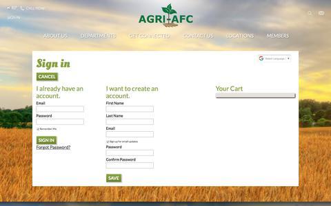Screenshot of Login Page agri-afc.com - Login - captured Oct. 7, 2017
