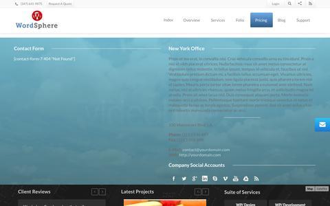 Screenshot of Support Page wordsphere.com - Wordsphere   Contact 3 - captured Nov. 3, 2014