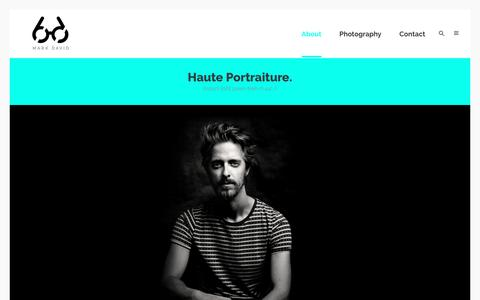 Screenshot of About Page markdavid.nl - MARK DAVID Haute Portraiture Photography / Portret en reclame fotograaf Den Haag Amsterdam Rotterdam Zuid Holland |   HAUTE PORTRAITURE? - captured May 26, 2017