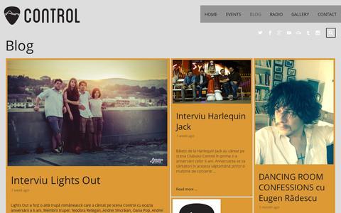 Screenshot of Blog control-club.ro - Blog   Control Club - the alternative - captured Sept. 30, 2014