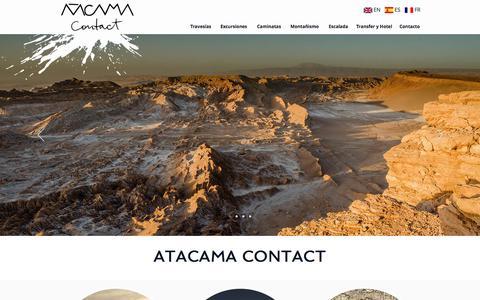 Screenshot of Home Page atacamacontact.com - Agencia de Turismo en Atacama | Atacama Contact - captured July 31, 2018