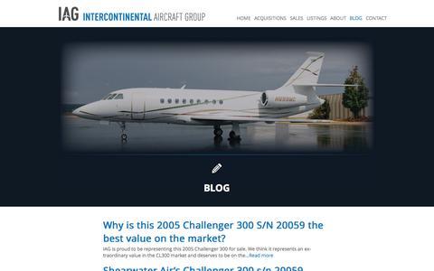 Screenshot of Blog iagjets.com - IAG Blog, Corporate aircraft sales and acquisitions | IAG - captured Oct. 6, 2014