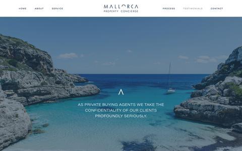 Screenshot of Testimonials Page mallorcapropertyconcierge.com - Testimonials — Mallorca Property Concierge - captured July 27, 2018